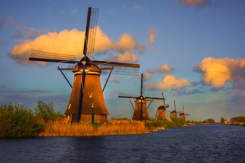 The Magic Of Last Light On The Windmills