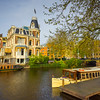 Historic Castles Along The Waterways Of Amsterdam