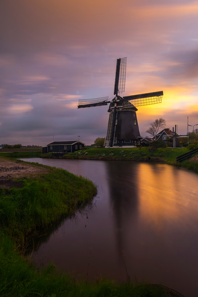 Long Exposure With The Windmills