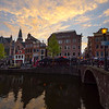 Sunset Skies Over The Church And Canals
