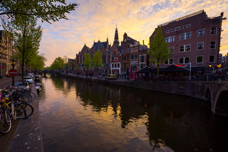 Sunset Skies Lit Up Over The Canals