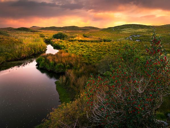River On Fire - Connemara Loop, County Galway, Ireland