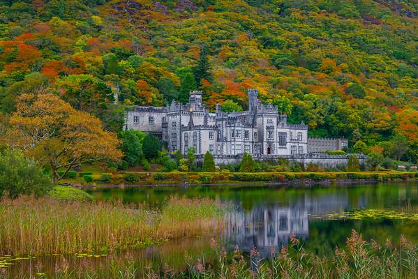 Kylemore Abbey In Autumn - Connemara Loop, County Galway, Ireland