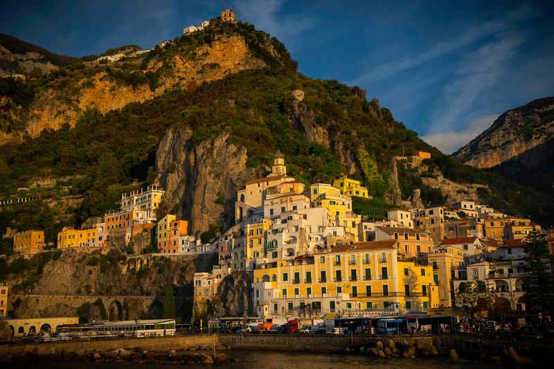 The Town Of Amalfi In Early Morning Light