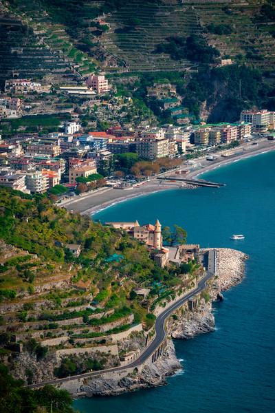 A View Of The Ins And Outs Of The Amalfi Coastline - Ravello, Amalfi Coast, Campania, Italy