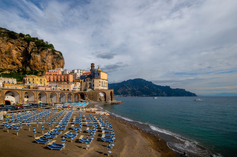 A Warm Winter Afternoon On Atrani Beach - Atrani, Amalfi Coast, Campania, Bay Of Naples, Italy
