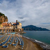 A Warm Winter Afternoon On Atrani Beach - Atrani, Amalfi Coast, Campania, Bay Of Naples, Italy