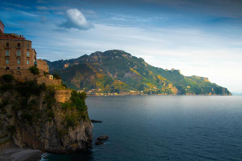Soft Afternoon Light Breaking Through - Atrani, Amalfi Coast, Campania, Bay Of Naples, Italy
