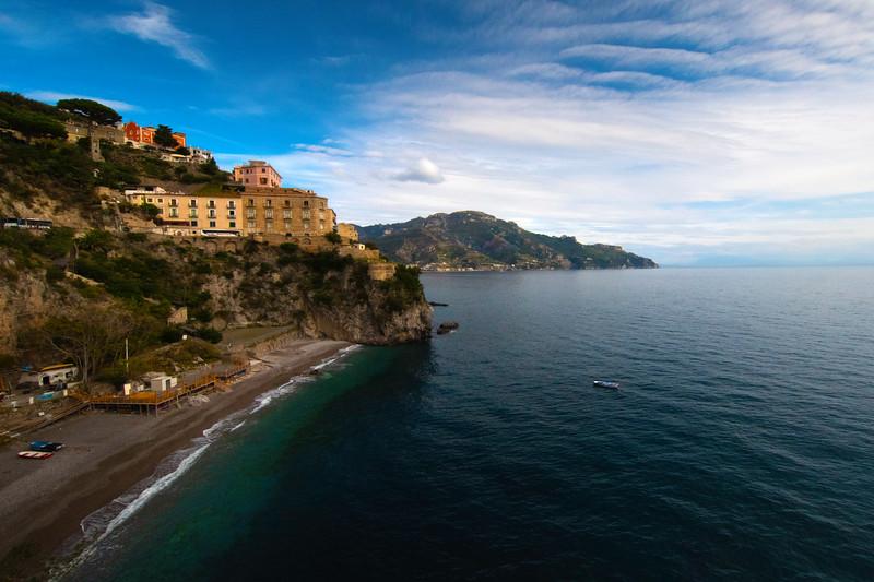 Looking Down The Amalfi Coast - Atrani, Amalfi Coast, Campania, Bay Of Naples, Italy