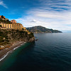 Looking Down The Amalfi Coast - Atrani, Amalfi Coast, Campania, Bay Of Naples, Italy