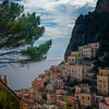 In The Hills Looking Down On Atrani - Atrani, Amalfi Coast, Campania, Bay Of Naples, Italy