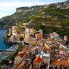 The Town Of Minori In Late Afternoon Light - Cetara, Amalfi Coast, Bay Of Naples, Campania, Italy