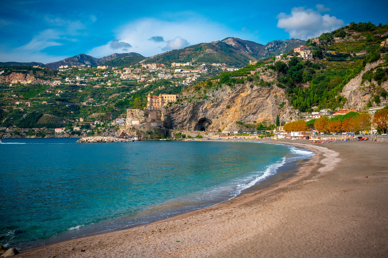 Solitude On Maiori Beach - Maiori, Amalfi Coast, Bay Of Naples, Italy