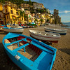 Warm Light On Beach Near Days End - Cetara, Amalfi Coast, Bay Of Naples, Campania, Italy