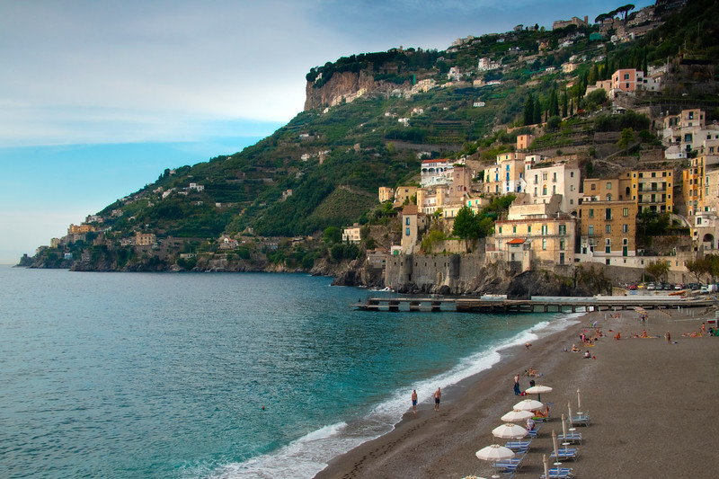 The Town Of Minori And Its Beach - Minori, Amalfi Coast, Bay Of Naples, Italy