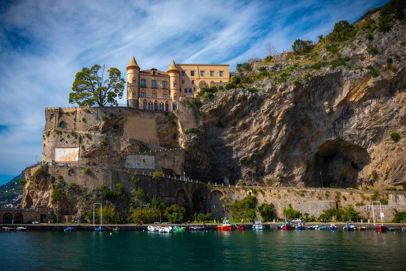 Castle On The Hill - Town Of Maori, Amalfi Coast, Bay Of Naples, Italy