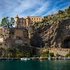 Castle On The Hill - Town Of Maori, Amalfi Coast, Bay Of Naples, Italy