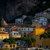 Houses Built Against The Amalfi Cliffsides