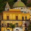 Warm Tones Surround The Town Of Cetara - Cetara, Amalfi Coast, Bay Of Naples, Campania, Italy