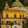 Warm Tones Surround The Town Of Cetara - Cetara, Amalfi Coast, Bay Of Naples, Campania, Italy