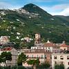 The Foothill Mountains Behind The Town Of Minori - Minori, Amalfi Coast, Bay Of Naples, Italy