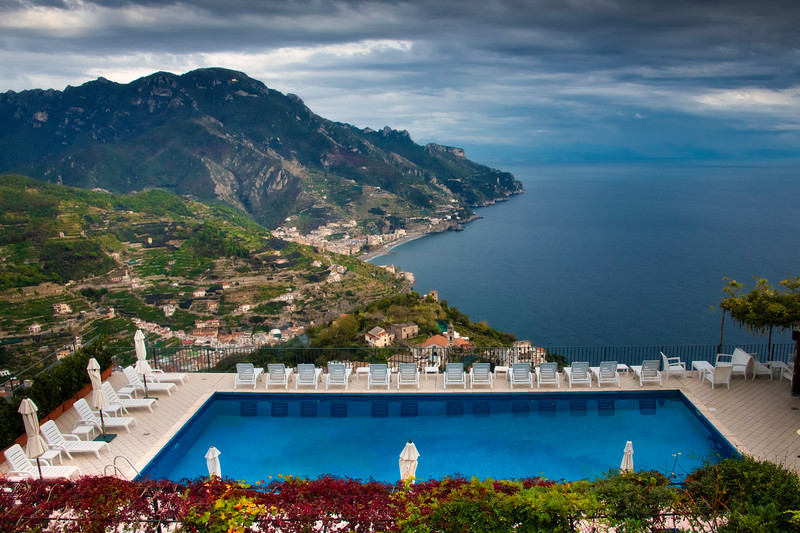 Pool Deck Views Of The Amalfi Coast - Ravello, Amalfi Coast, Campania, Italy