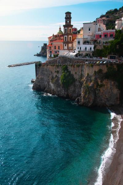 The Seaside Town Of Atrani - Atrani, Amalfi Coast, Campania, Bay Of Naples, Italy