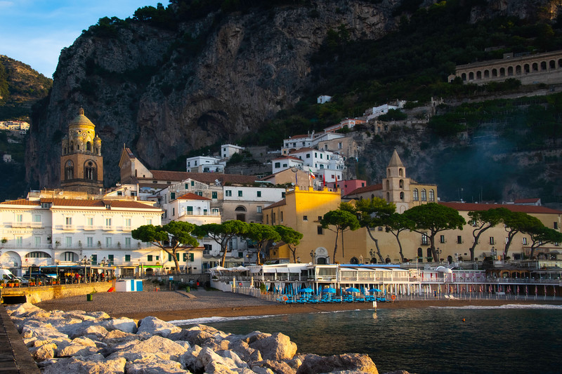First Light Hits The Town Of Amalfi