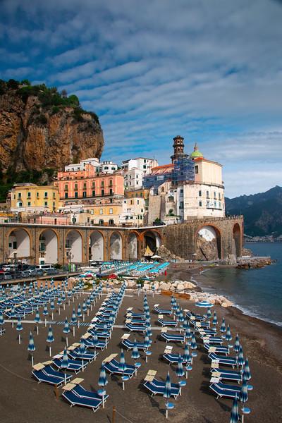 Nice Cloud Patterns Hanging Above Atrani - Atrani, Amalfi Coast, Campania, Bay Of Naples, Italy
