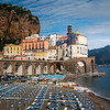 Nice Cloud Patterns Hanging Above Atrani - Atrani, Amalfi Coast, Campania, Bay Of Naples, Italy