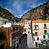 A Look At The Town Of Atrani From Above - Atrani, Amalfi Coast, Campania, Bay Of Naples, Italy