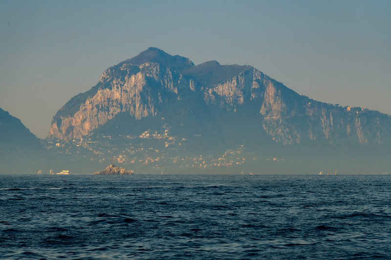 Island Of Capri From A Distance Sorrento, Italy