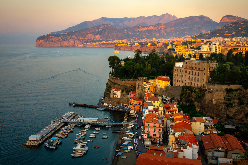 Marina Grande At Sunset Sorrento, Italy