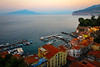 Twilight Hour Sets on Sorrento Coastline Sorrento, Italy