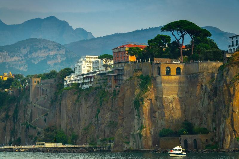 Golden Light On Cliff Walls Sorrento, Italy