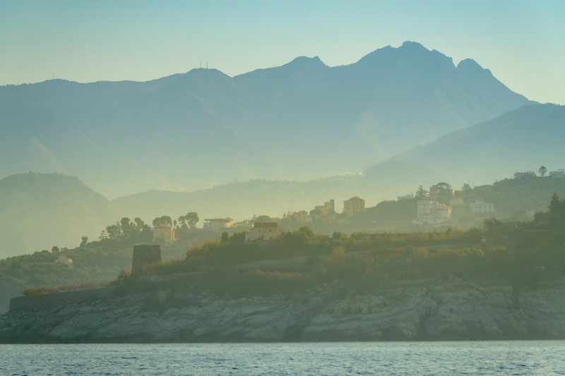 Morning Mist In The Valleys Along The Sorrento Coast Sorrento, Italy