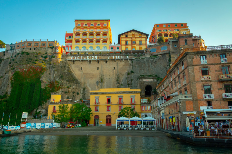 The Famous Excelsior Hotel In Sorrento Marina Sorrento, Italy