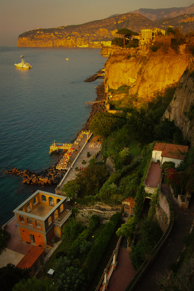 Last Light Shining Down The Coast Sorrento, Italy