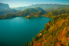 Hillsides Of Color Looking Down On Lake Bled - Lake Bled, Bled, Slovenia