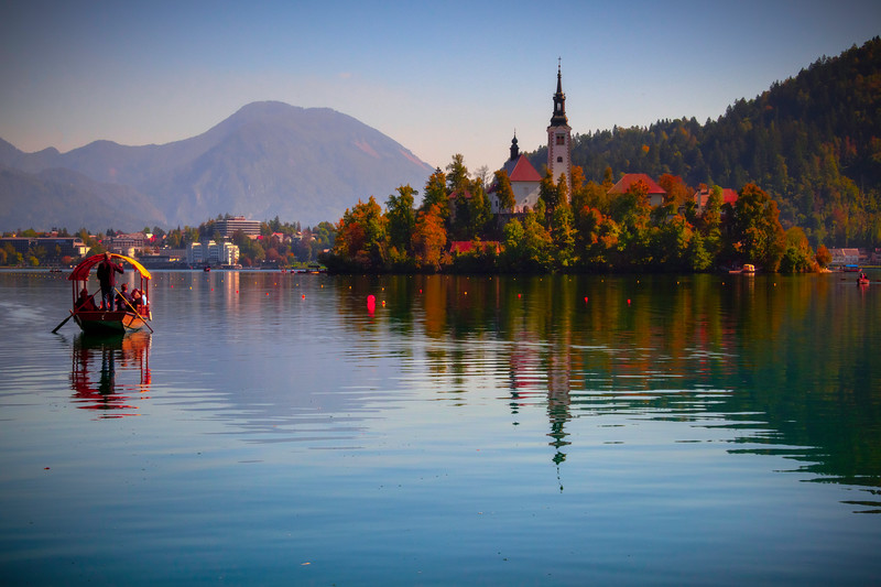 Cruising Into The Island - Lake Bled, Bled, Slovenia
