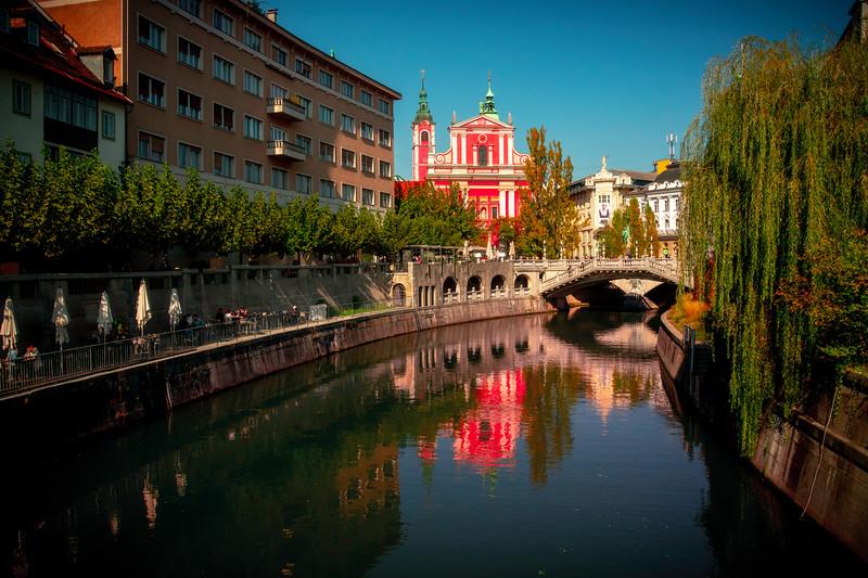 Canal Reflections Of Ljubljana- Ljubljana, Slovenia