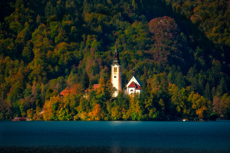 The Lake Bled Castle In Warm Afternoon Light - Lake Bled, Bled, Slovenia