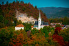 The Chapel On The Autumn Hill Of Lake Bled - Lake Bled, Bled, Slovenia