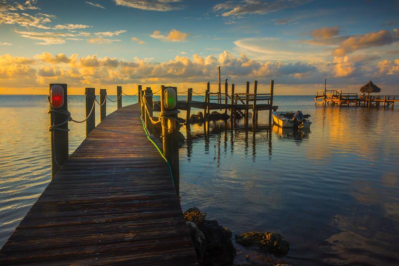 Early Morning Light Along The Pier - Marathon, Florida Keys, Florida