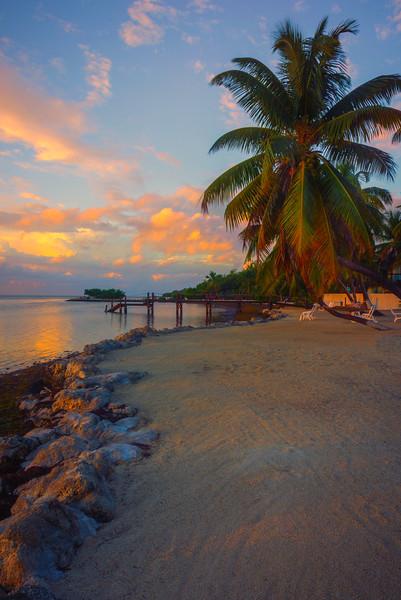 Early Morning Light Skimming Across Beach - Marathon, Florida Keys, Florida