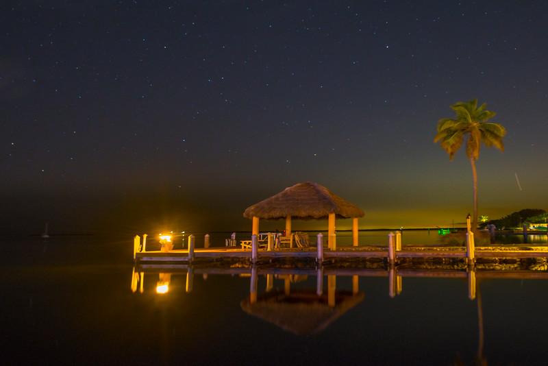 Key Largo Pier Under The Milky Way -  Key Largo, Florida Keys, Florida