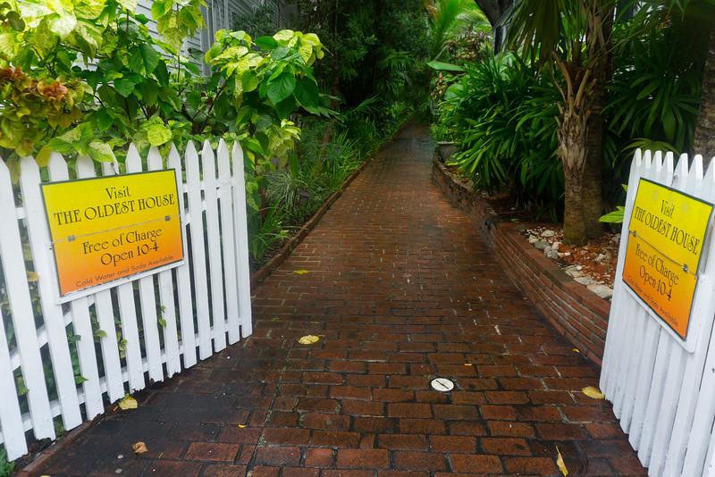 Gateway To The Oldest House - Key West, Florida Keys, Florida