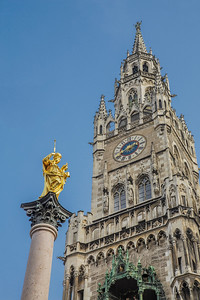 Marian Column and Rathaus, Munich