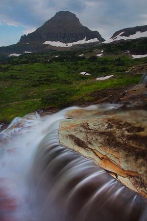 Logans Pass Cascading Creek - Glacier National Park, Montana