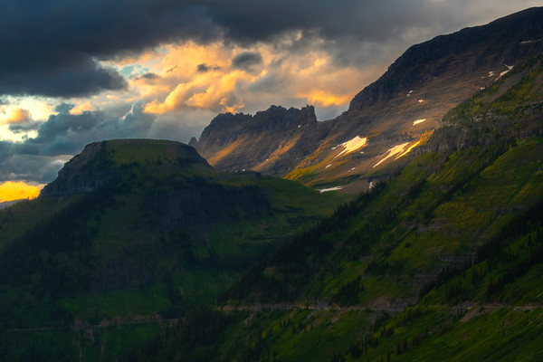 Heading Down The Going To Sun Road - Going To The Sun Road, Glacier National Park, Montana
